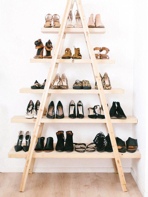 escalera de zapatos de bricolaje