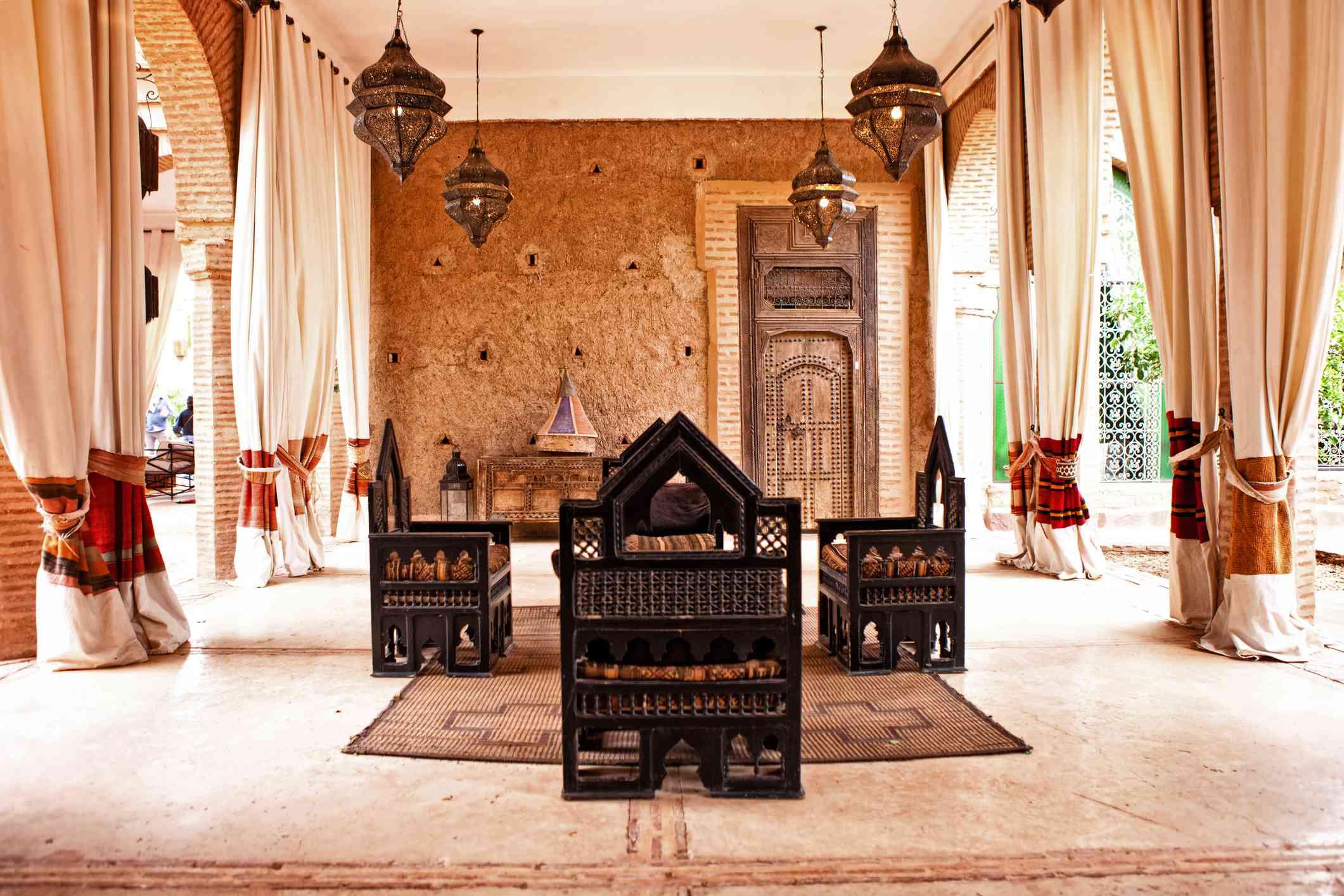 Moroccan style indoor outdoor living room