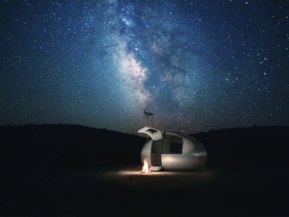 tiny house under the stars