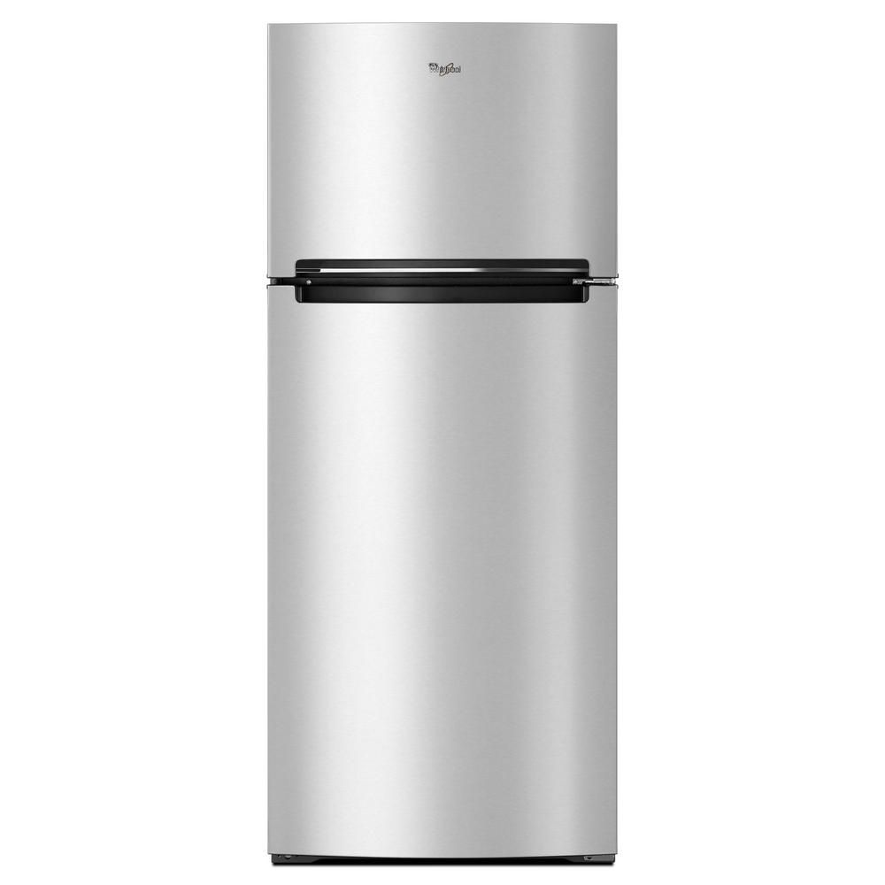 Whirlpool 18 cu. ft. Top Freezer Refrigerator in Stainless Steel