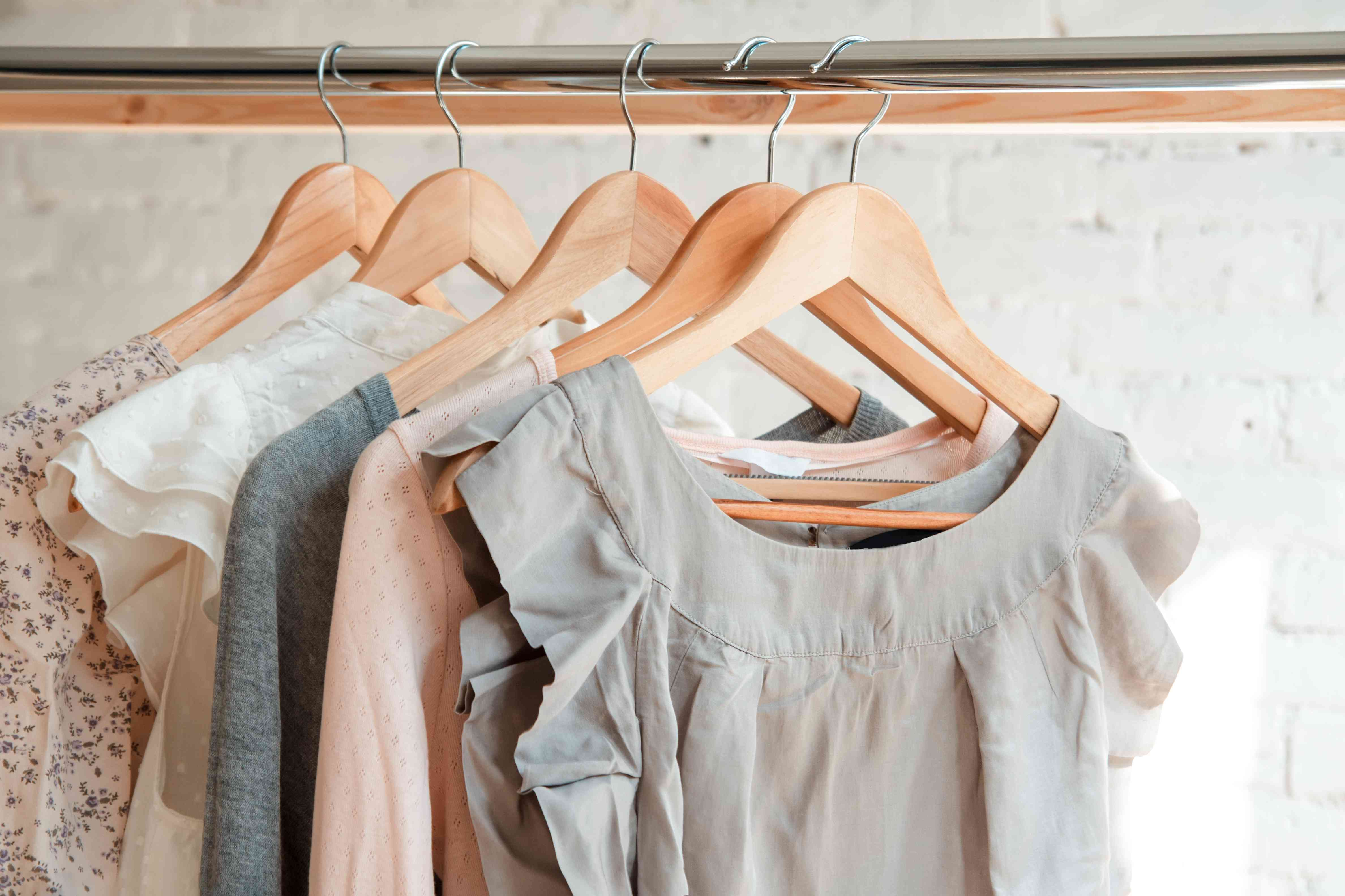 Summer Clothing in closet