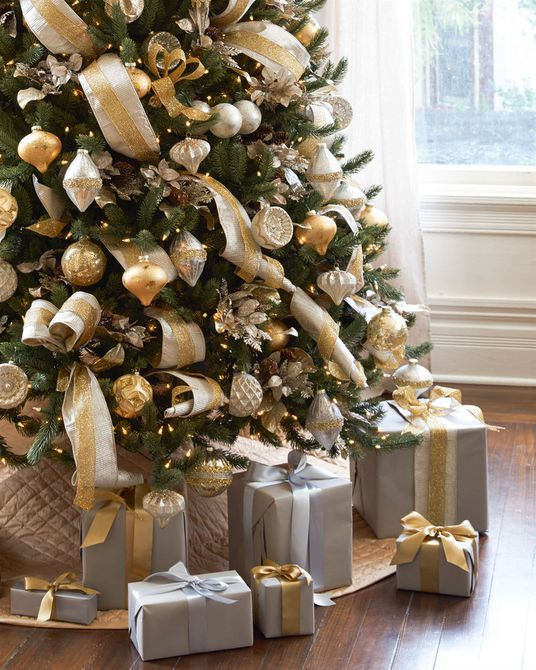 Silver and gold tree