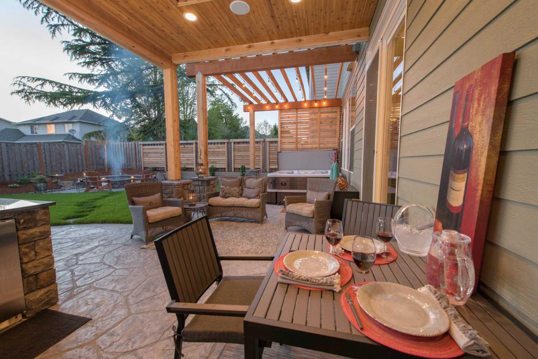 diseño de patio trasero de Oregon