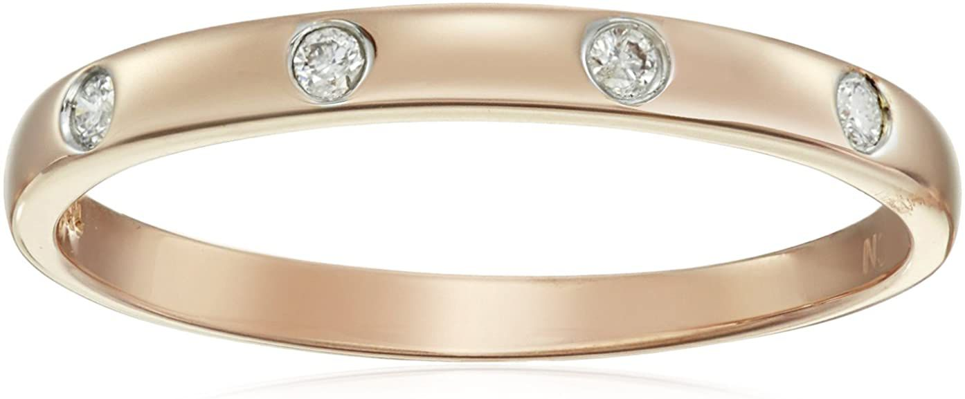 Amazon Collection 10k Gold Diamond Accent Ring