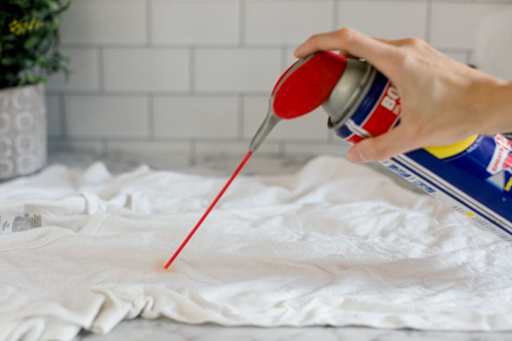 using WD-40 on a stain