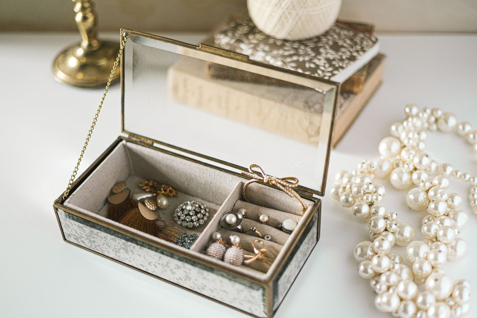 jewelry box on a dresser