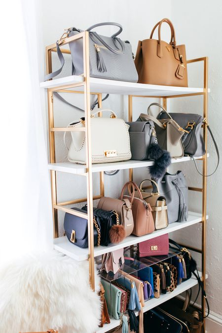81d9523824 Store bags on a bookcase. Haute Off the Rack
