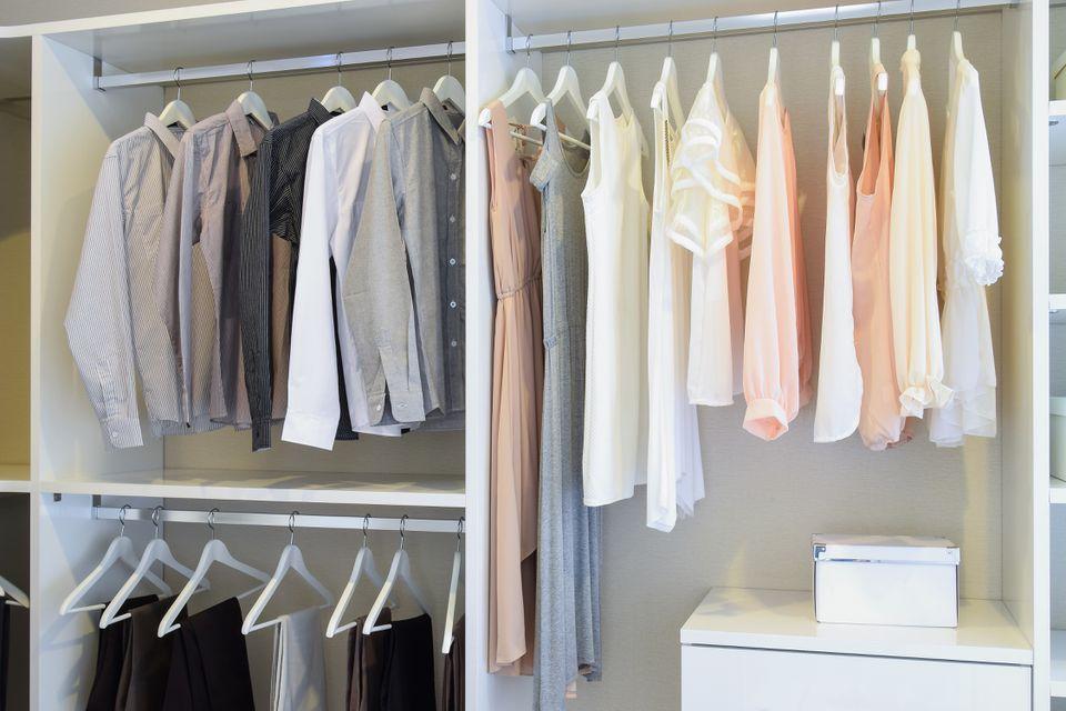 DIY Closet System with Shelves