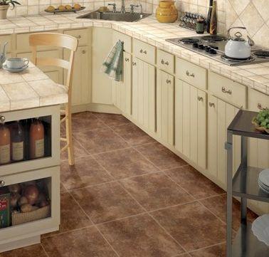 Dark Chocolate Kitchen Floor Tile