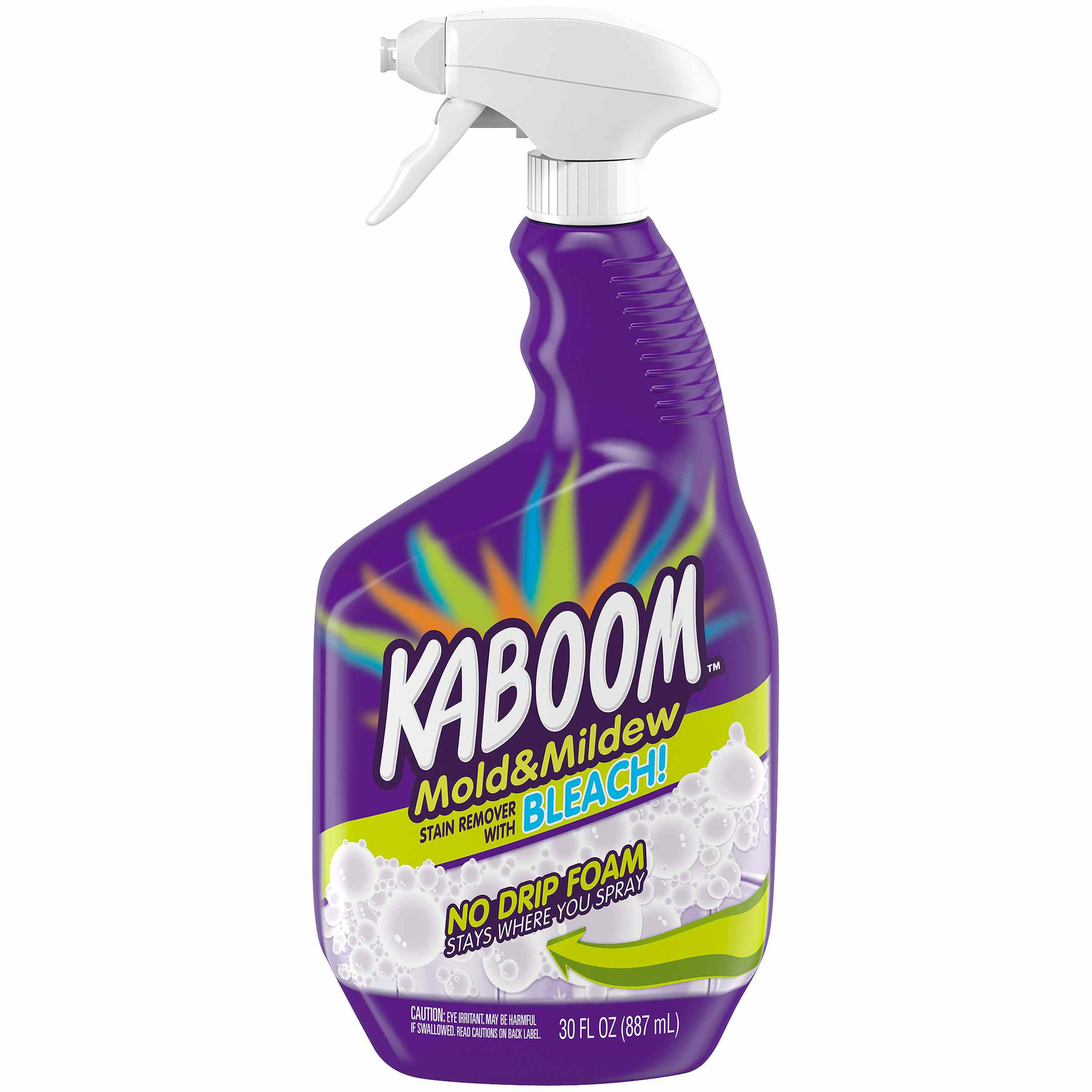 Kaboom Mold & Mildew Stain Remover with Bleach No Drip Foam