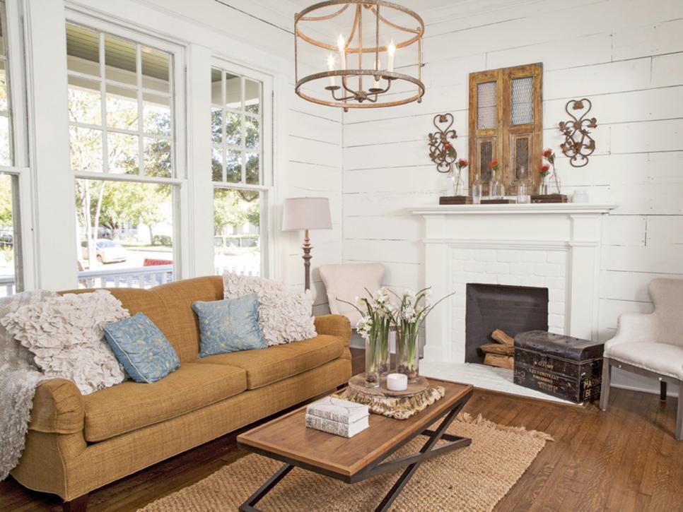 Tendencias de sala de estar - Shiplap