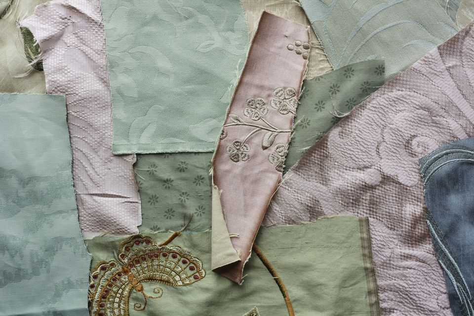 A set of luxury fabric samples