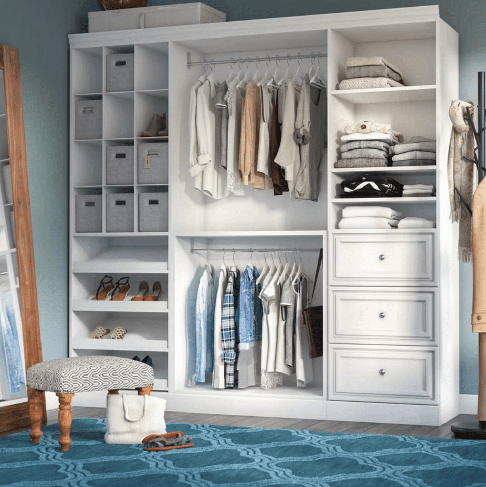 Walkin Closet Shelving Ideas