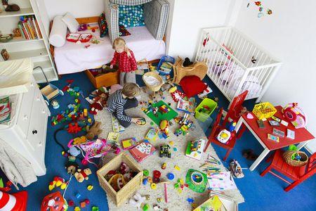 Children Playing In Messy Nursery