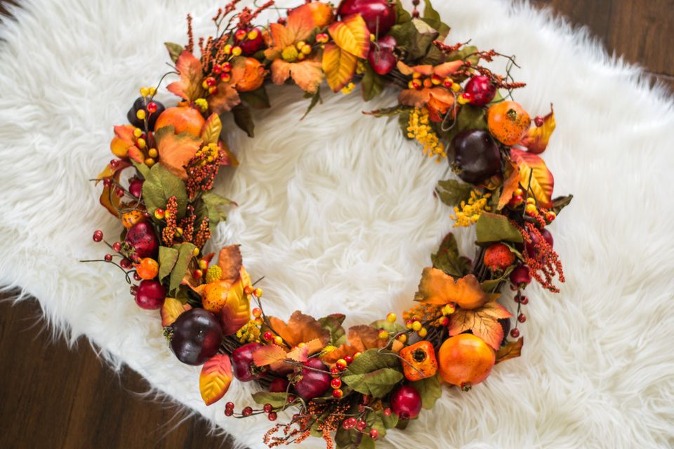 thanksgiving home decor, fall wreath