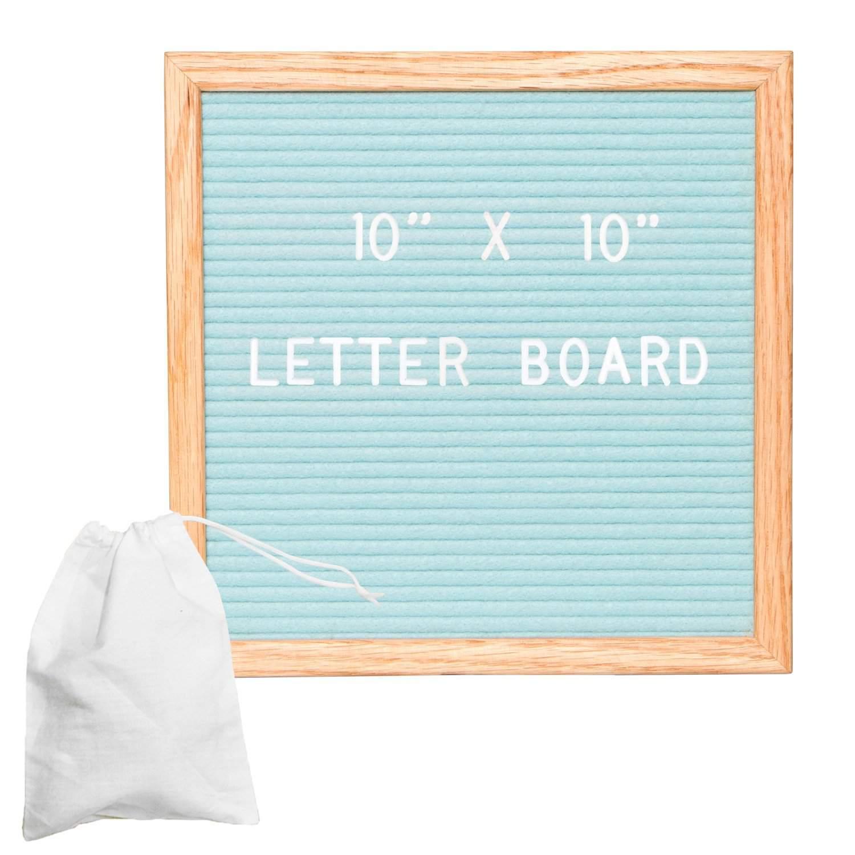 Seafoam Green Felt Letter Board