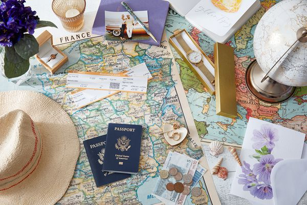 Variety of travel items