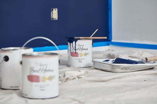 Room with fresh paint