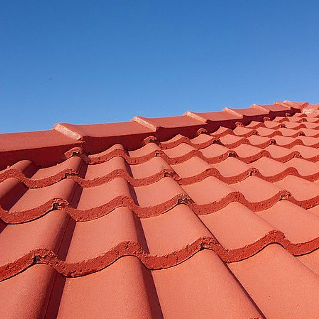 Red tile roofing