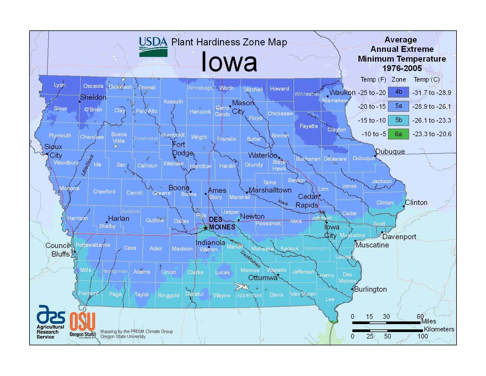 Photo of Iowa Hardiness Zones