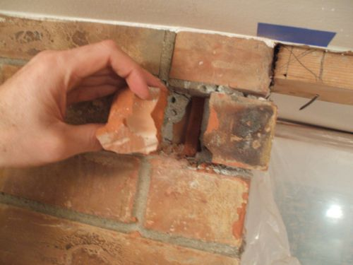 Taking Out Brick Chunks By Hand
