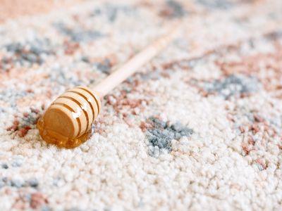 honeycomb on a carpet