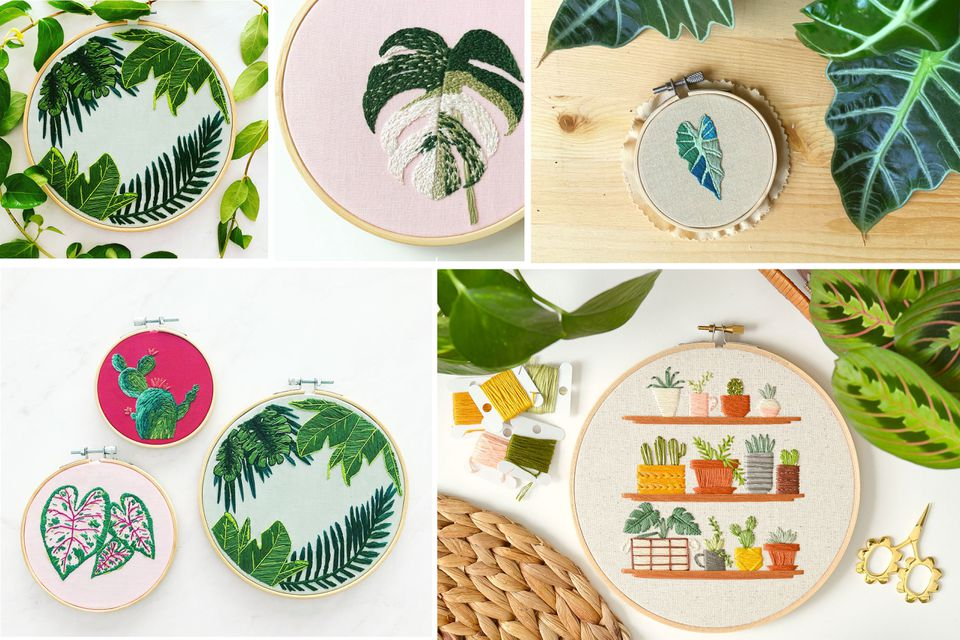 embroidery hoop collage