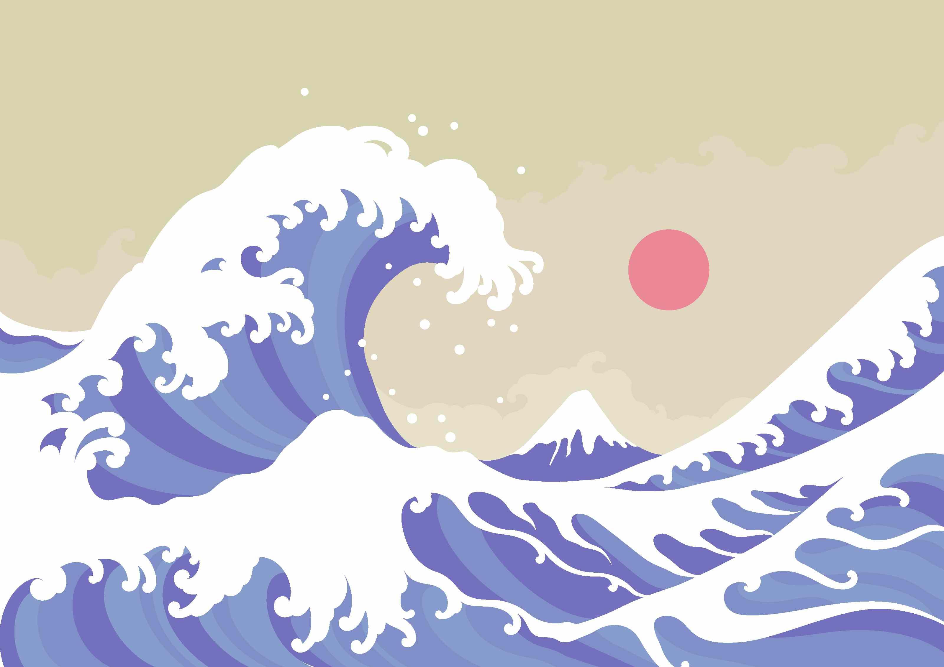 big wave artwork