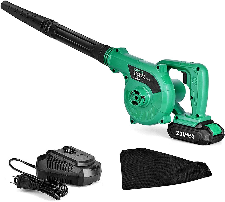 KIMO 20V 2-in-1 Sweeper/Vacuum Cordless Leaf Blower
