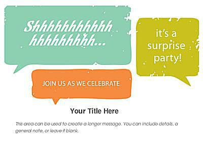 Free birthday invitations online a surprise birthday invite in green and orange filmwisefo