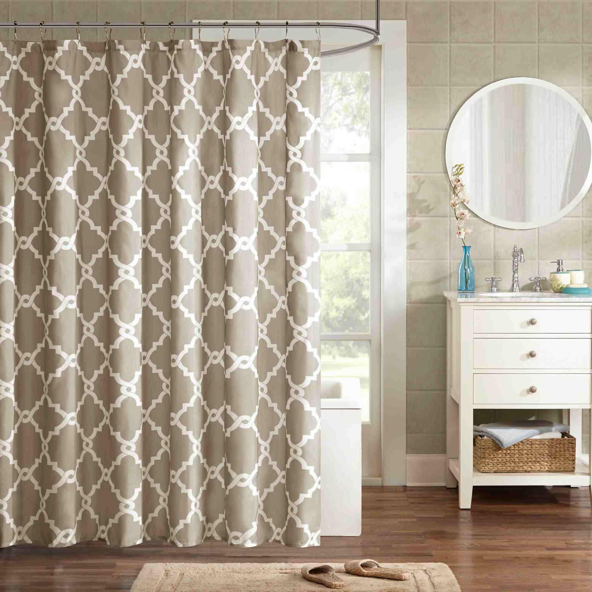 Best Extra Long Madison Park Essentials Merritt Shower Curtain