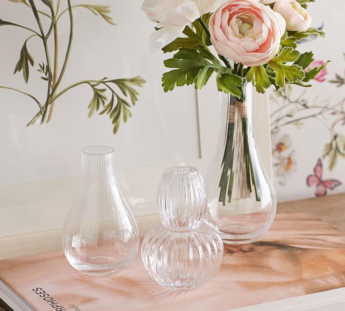 Pottery Barn Monique Lhuillier Glass Bud Vases, Set of 3
