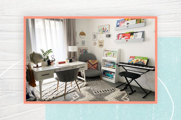 Ashley Chalmers's home office-playroom combination