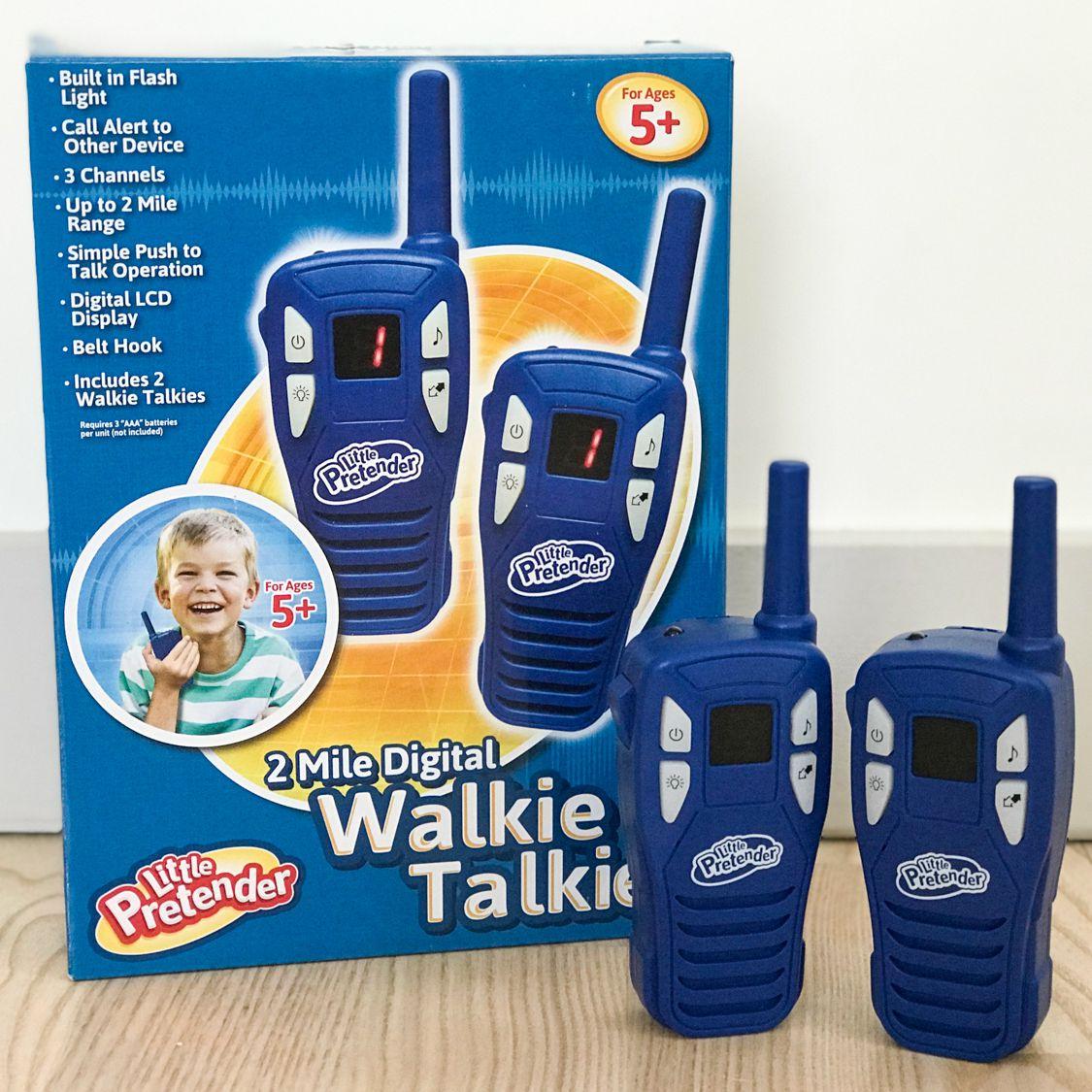 WALKIE TALKIE BATTERIES NOT INCLUDED, SIMPLE USE BASIC BEGINNERS