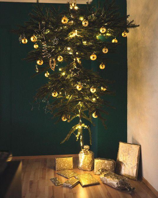 oro al revés -down-christmas-tree