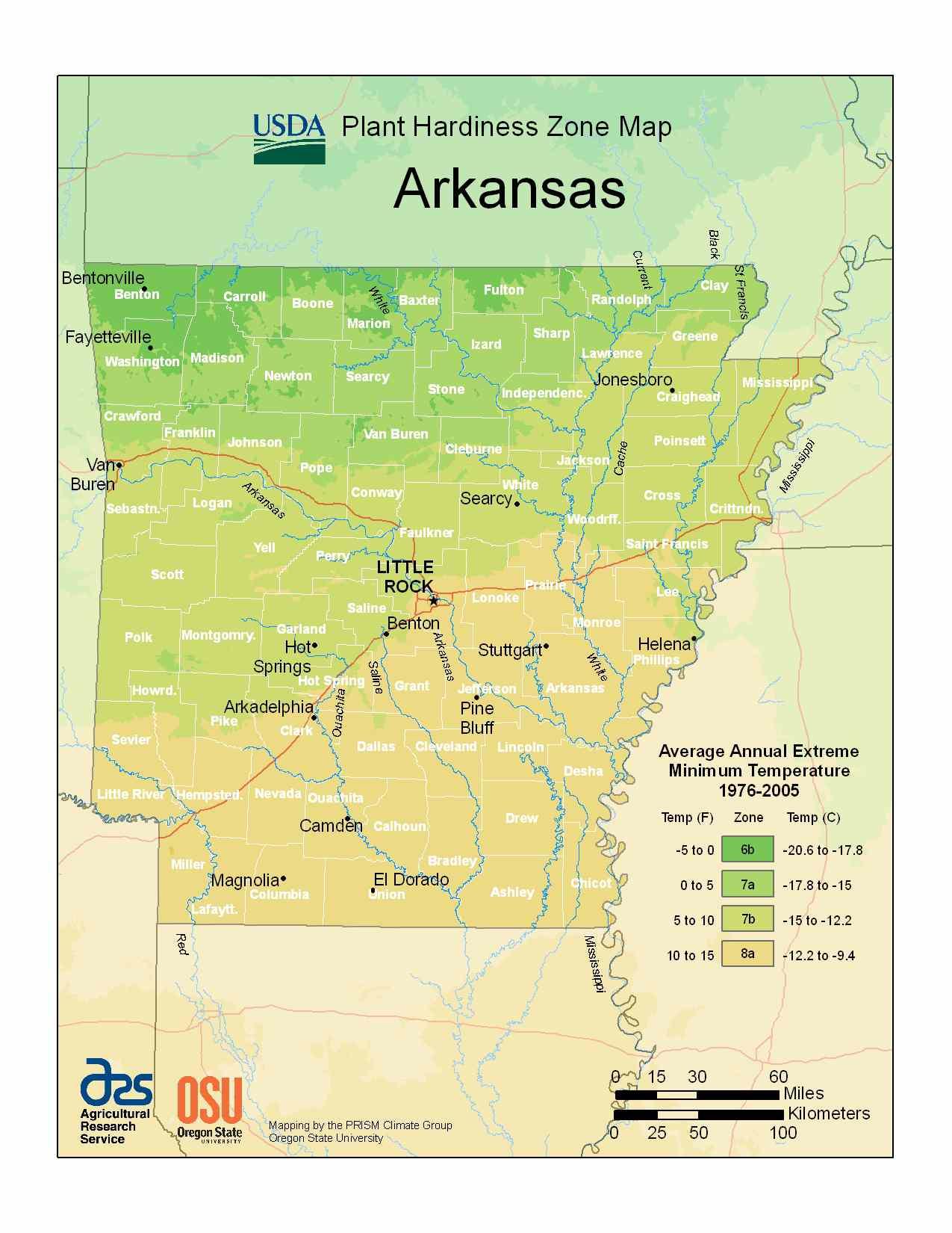 Photo of the Arkansas Hardiness Zones