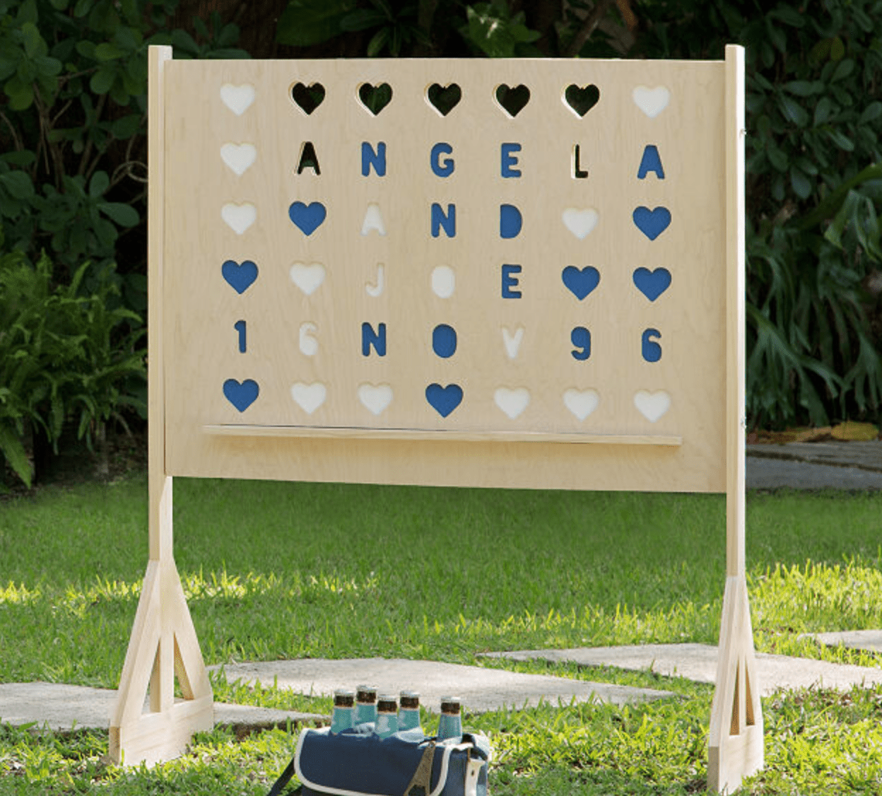 Personalized Four Across Lawn Game