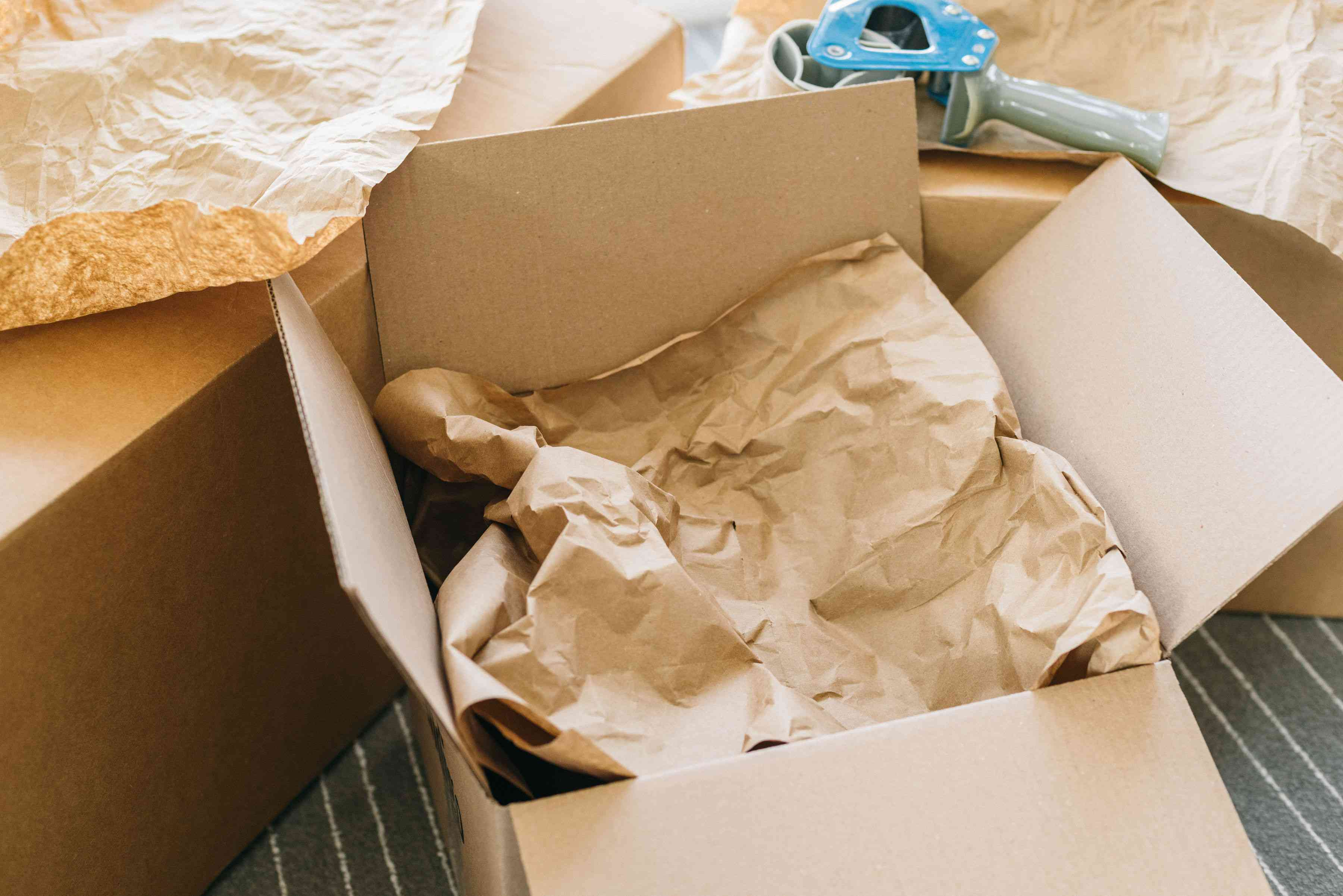 fill up the rest of the box with packing paper