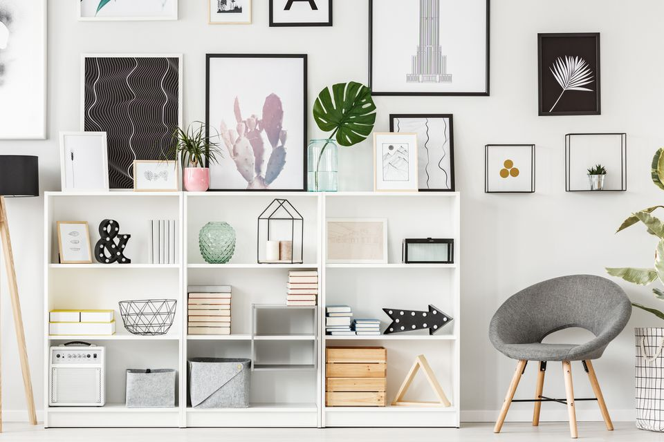 Chic styled shelves