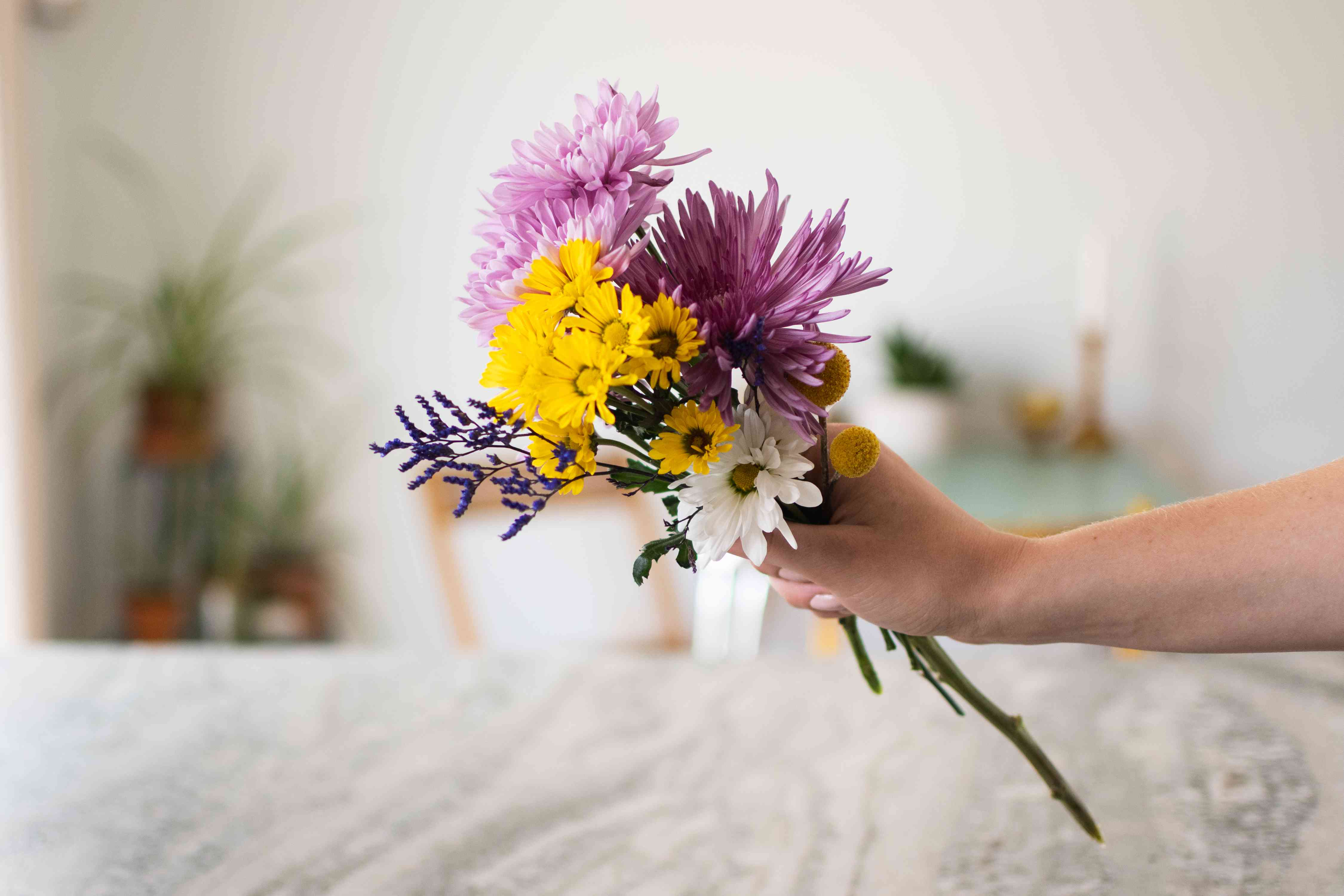 Different flowers bunched together that can be dried wit borax