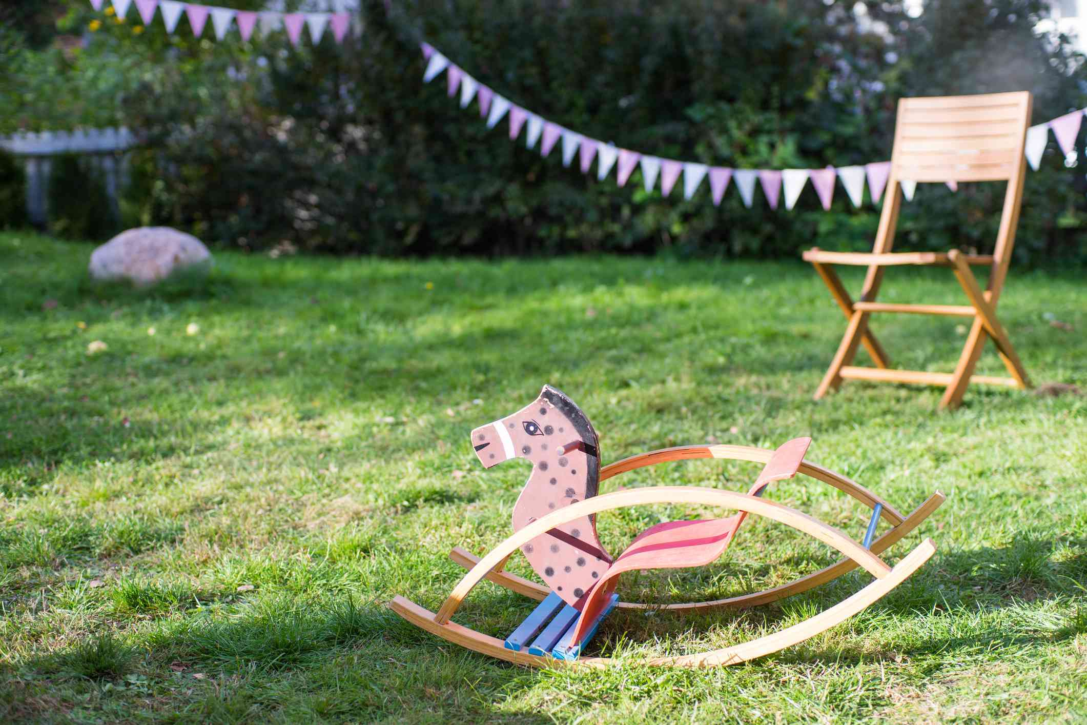 Chair And Child Rocking Chair At A Birthday Party