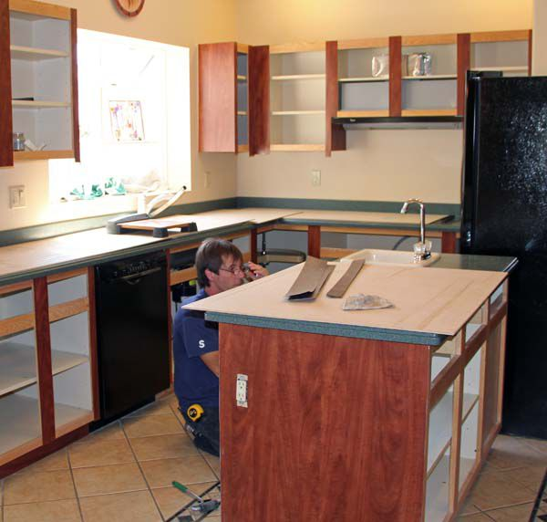Do It Yourself Refacing Kitchen Cabinets: How Cabinet Refacing Works: The Basic Process