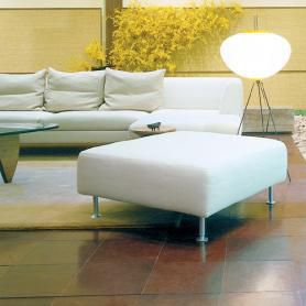 Leather flooring in living room