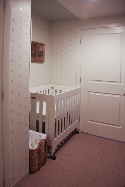 A Sweet Polka Dot Closet Nursery