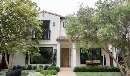 Classic Spanish Colonial home with cream exterior