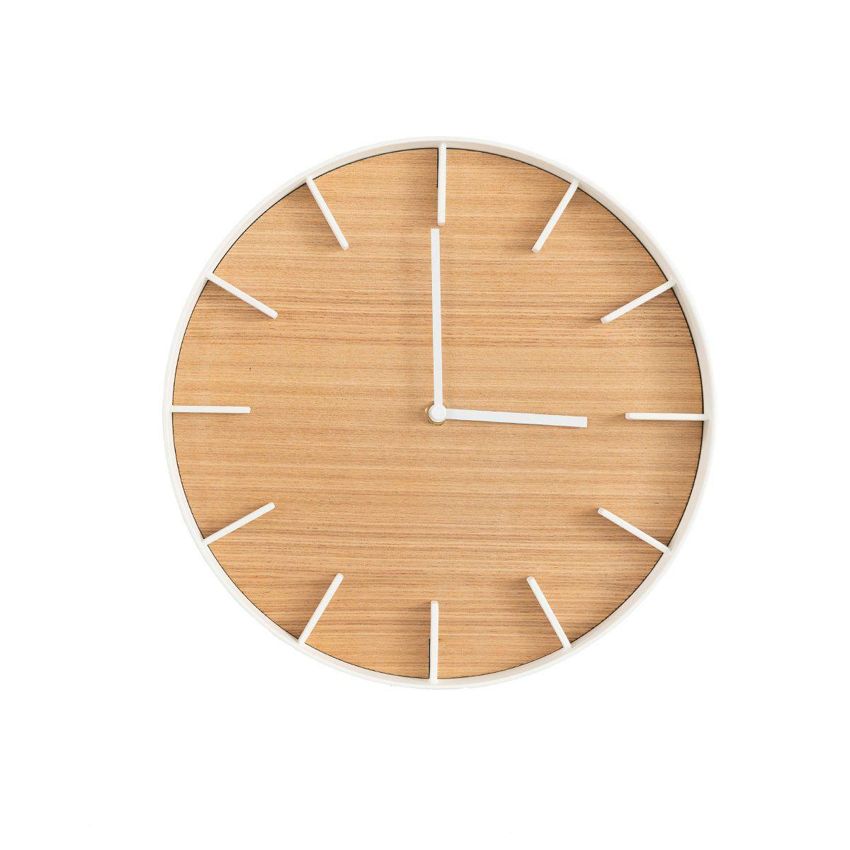 Letterfolk Elemental Wood Wall Clock