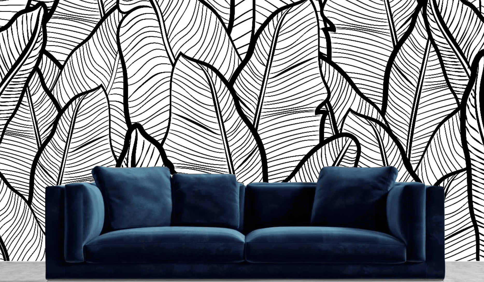 The Black Home Peel and Stick Wallpaper