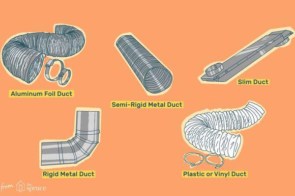 dryer duct types illustration