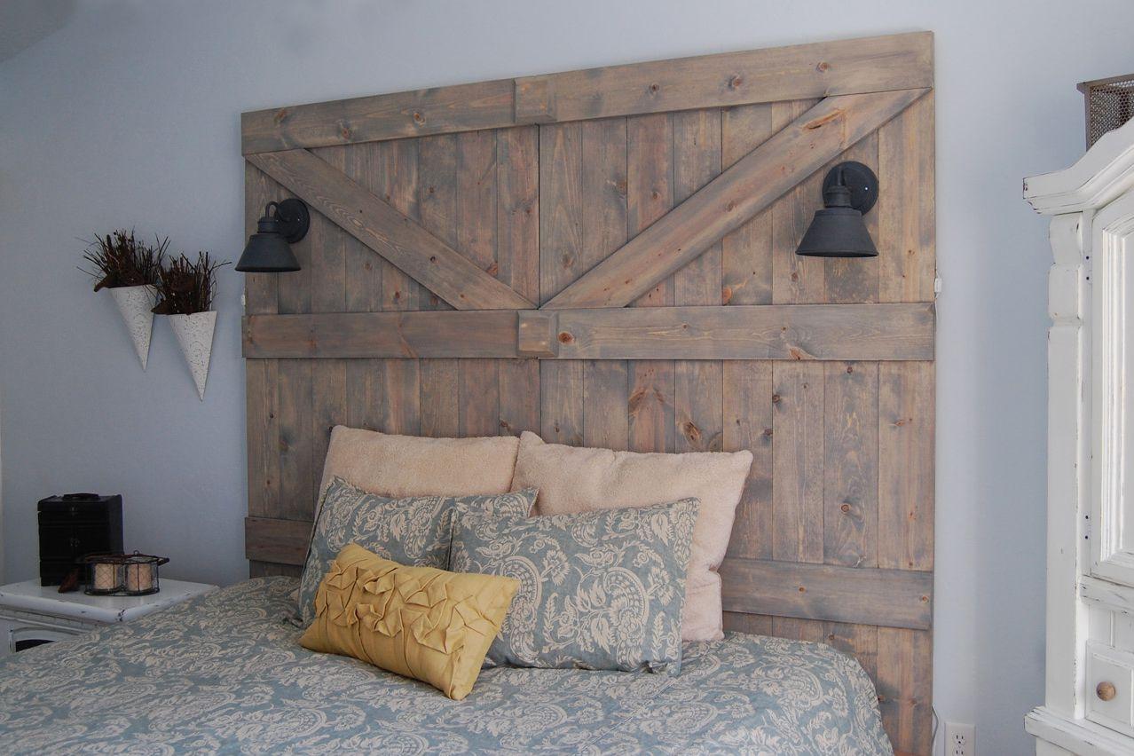 Barn door diy headboard