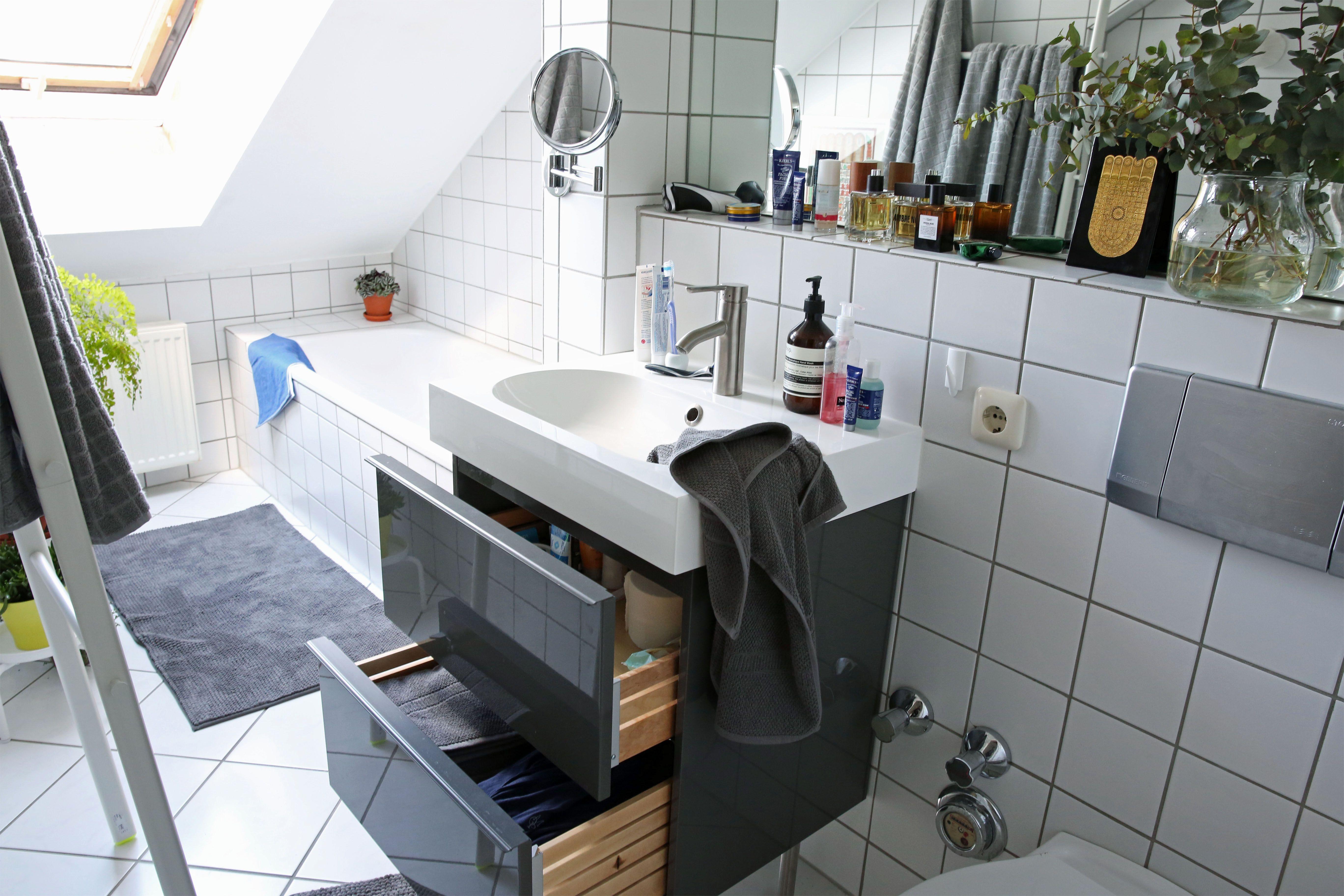 Bathroom sink in a small bathroom